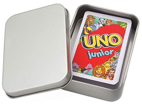 UNO Junior Kartenspiel Neue Edition für Kinder, Kinderspiele geeignet für 2 - 4 Spieler ab 3 Jahren +...