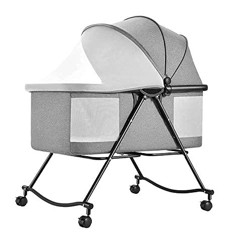 FGDSA 3 In 1 Babybett Wiege Reisebett, Kinderbett Bett Verstellbar, Mit Zubehör Matratzenbezug,...