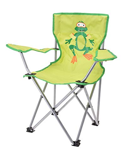 Meinposten. Campingstuhl für Kinder Klappstuhl Gartenstuhl Kind Klappsessel Kinderklappstuhl (Frosch, grün)