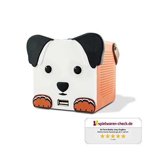 X4-TECH Dogbox - Bluetooth Lautsprecher für Kinder - Kabellos mit Akku - Für Autofahrten und Kinderzimmer
