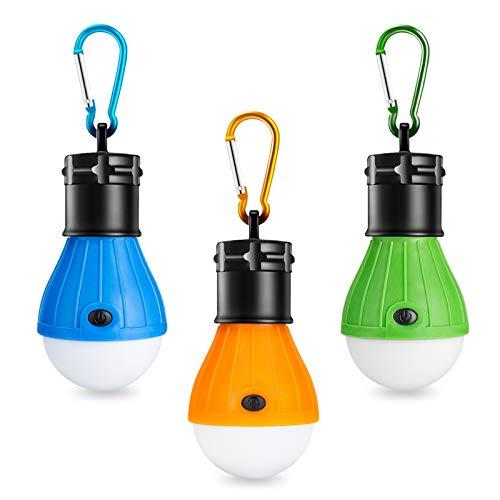 Winzwon Campinglampe, LED Camping Laterne, Tragbare Zeltlampe Laterne Glühbirne Set-Notlicht COB 150 Lumen...