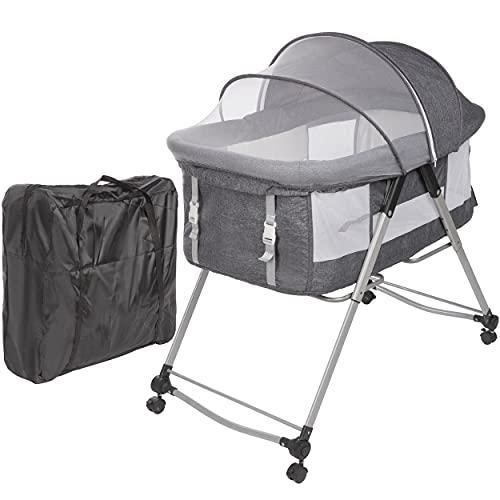 ONVAYA® Babyreisebett | Beistellbett mit Matratze | Reisebett für Babys | Babywiege | Stubenwagen |...