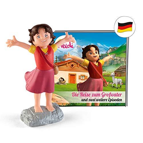 tonies Hörfiguren für Toniebox: Hörspiel Heidi - Die Reise zum Großvater Figur mit 12 Geschichten und...