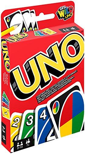Mattel Games - UNO Kartenspiel und Gesellschaftspiel, geeignet für 2 - 10 Spieler, Kartenspiele und...