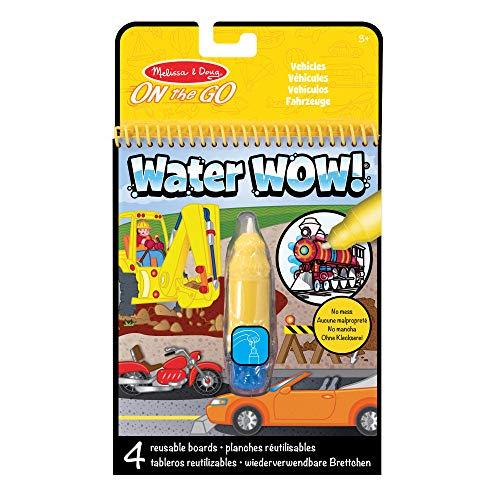 Melissa&Doug Water Wow! wiederverwendbares Wassereinfärbungsaktivitätsbrett für unterwegs – Fahrzeuge