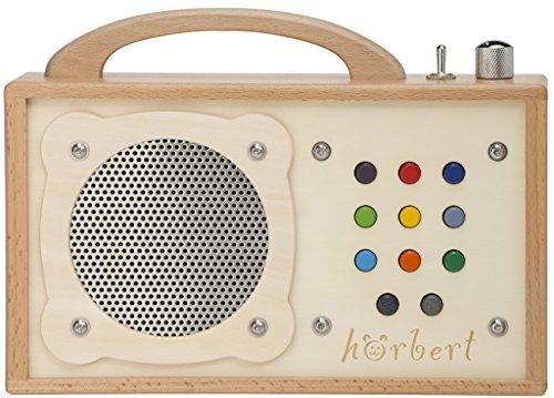 MP3-Player für Kinder: hörbert. Testsieger der Stiftung Warentest. Made in Germany. Seine 9 Playlists sind...