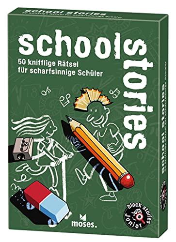 moses. black stories Junior school stories  50 knifflige Rätsel für Schüler   Das Rätsel Kartenspiel für...