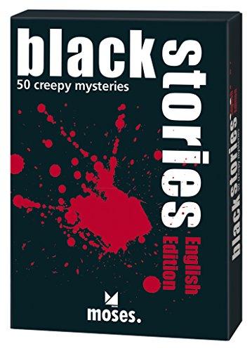 moses. black stories English Edition   50 rabenschwarze Rätsel   Das Krimi Kartenspiel