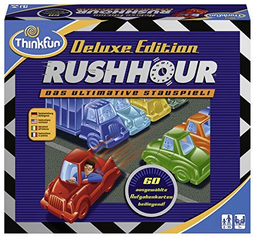 ThinkFun 76338 76305 - Rush Hour - Das bekannte Stau-Spiel in der Deluxe Edition mit Fahrzeugen in...