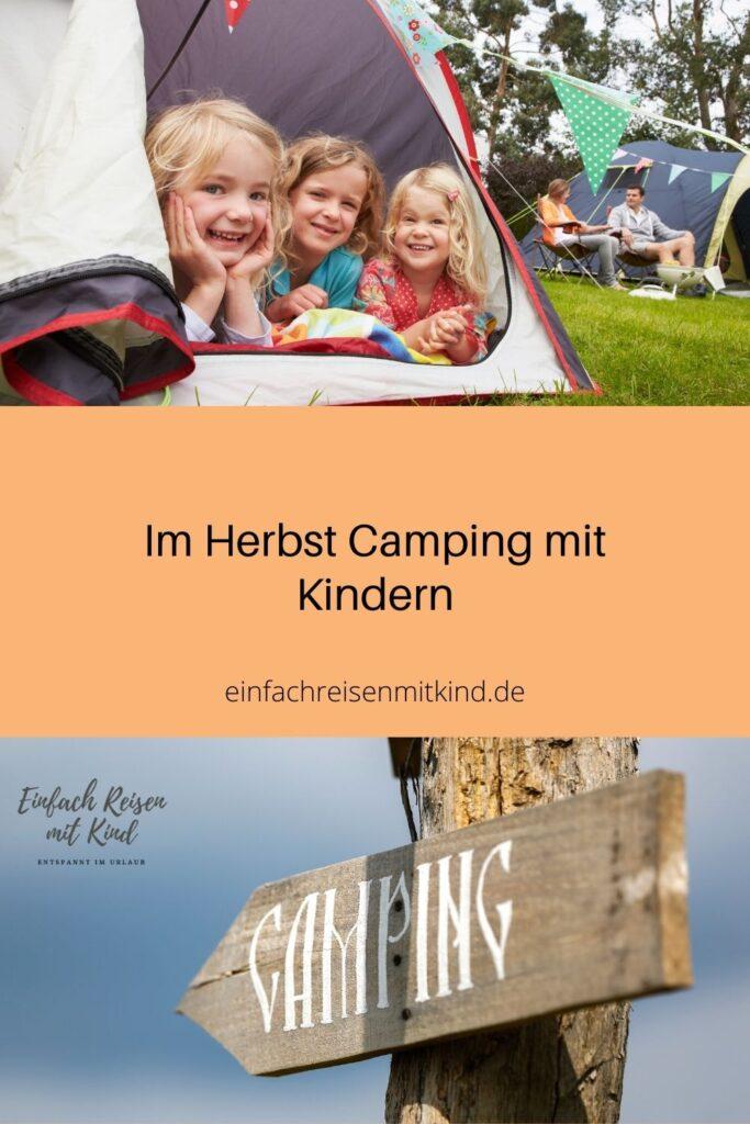 Camping im Herbst mit Kindern